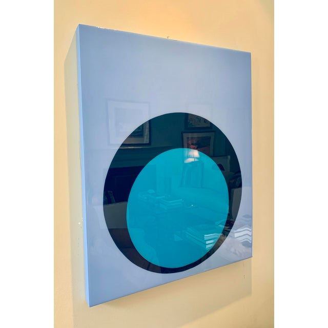 Contemporary Stephanie Henderson Glossy Double Dot on Panel For Sale - Image 3 of 7