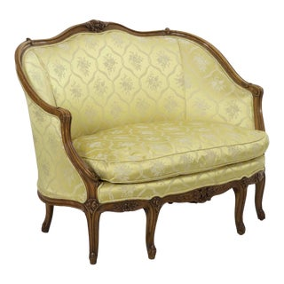 19th Century French Antique Canapé Sofa Settee in Louis XV Style For Sale