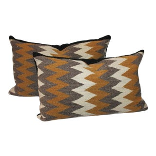 Navajo Indian Weaving Streak of Lighting Pillows For Sale