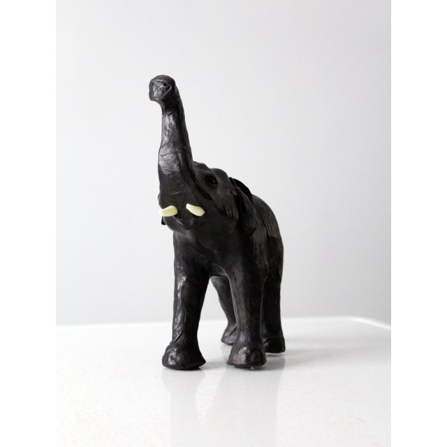 Leather Vintage Leather Elephant Figure For Sale - Image 7 of 10