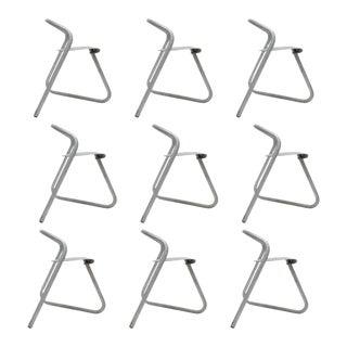 Set of Nine Erik Magnussen Industrial Chairs For Sale