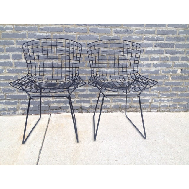 Harry Bertoia Black Side Chairs - Pair - Image 2 of 7