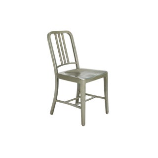 1970s Industrial Emeco Navy Aluminum Chair For Sale