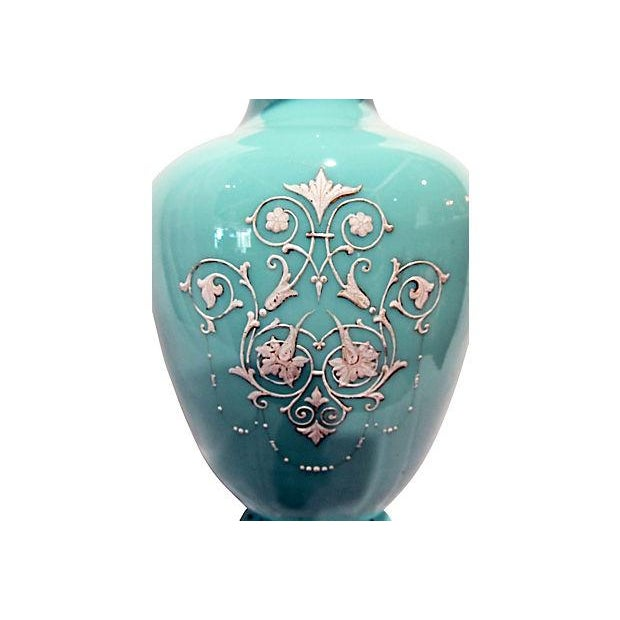 Hand-Painted Bristol Vase For Sale - Image 4 of 7