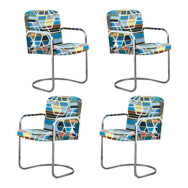 Design Institute of America Set of Four Chairs with Maharam Fabric - Image 1 of 11
