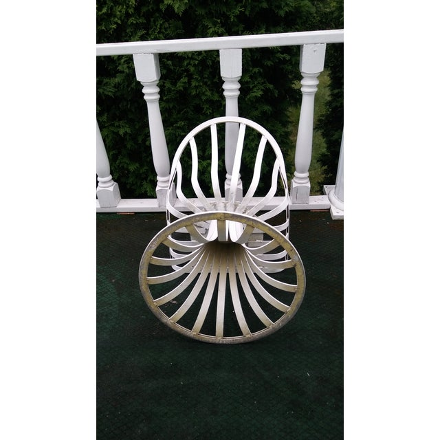 Russell Woodard Mid-Century Aluminum Table & 5 Chairs - Image 6 of 11