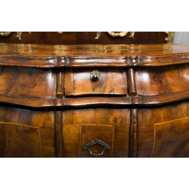 19th Century Pair of Italian Rococo Style Walnut Commodes For Sale - Image 10 of 10
