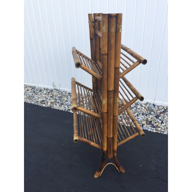 Vintage Bamboo Folding Book Rack - Image 2 of 11