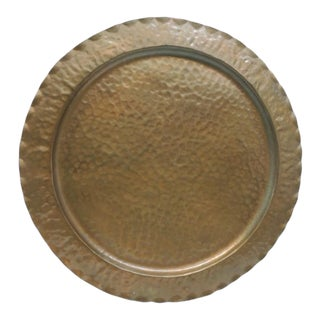 Vintage Round Serving Copper Tray