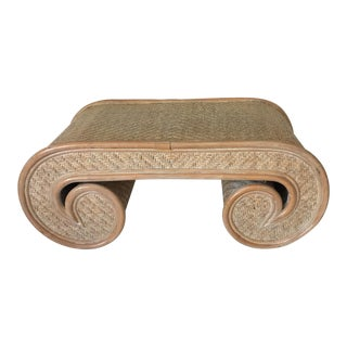 Rattan Scroll Coffee Table