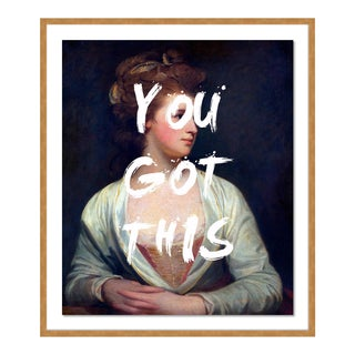 You Got This by Lara Fowler in Gold Framed Paper, Large Art Print For Sale