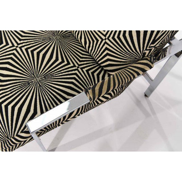 Milo Baughman for Thayer Coggin Lounge Chair with Verner Panton Fabric For Sale In Los Angeles - Image 6 of 9