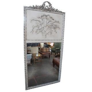 Louis XVI French Trumeau Wall Mantel Mirror For Sale