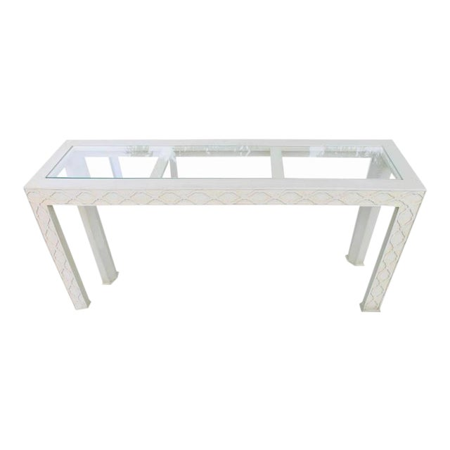 Henredon Chinoiserie Fretwork Console Table - Image 1 of 9