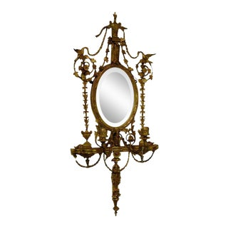 Adam Style Giltwood Girandole For Sale