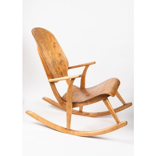 Ilmari Tapiovaara 1940s Vintage Ilmari Tapiovaara Rocking Chair For Sale - Image 4 of 13