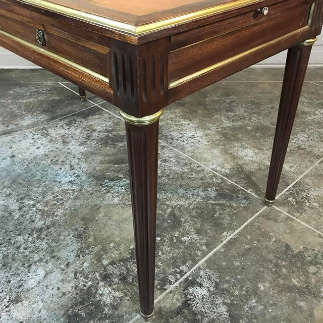 19th Century French Louis XVI Leather Top Desk For Sale - Image 9 of 13