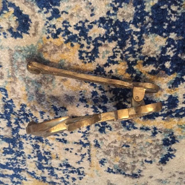 Nautical Coastal Beach House Anchor & Rope Brass Door Knocker - Image 5 of 11
