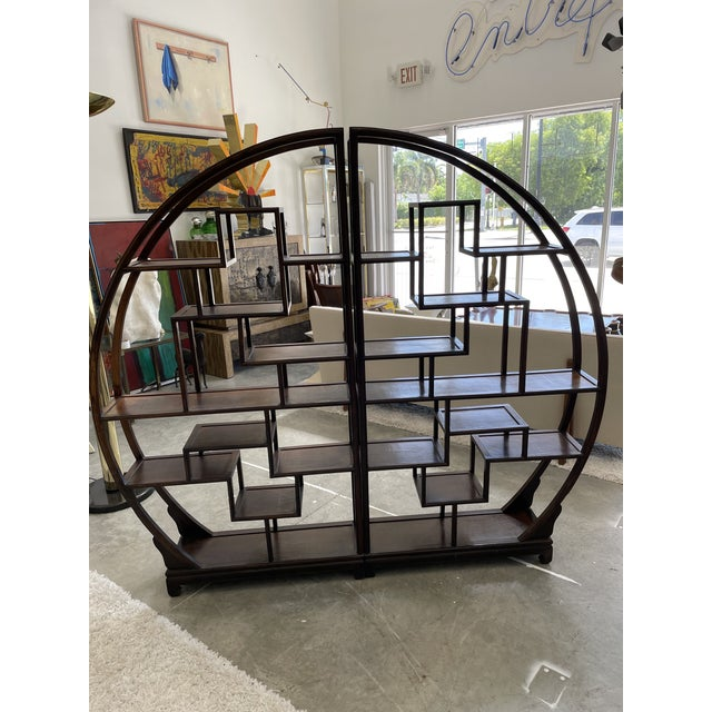 Wood 1960s Asian Style Wooden Etagere For Sale - Image 7 of 11