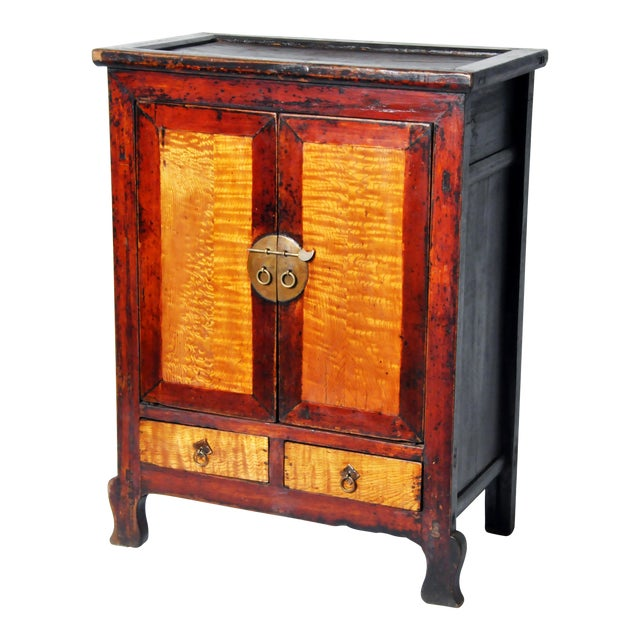 Chinese Red Lacquer Cabinet For Sale