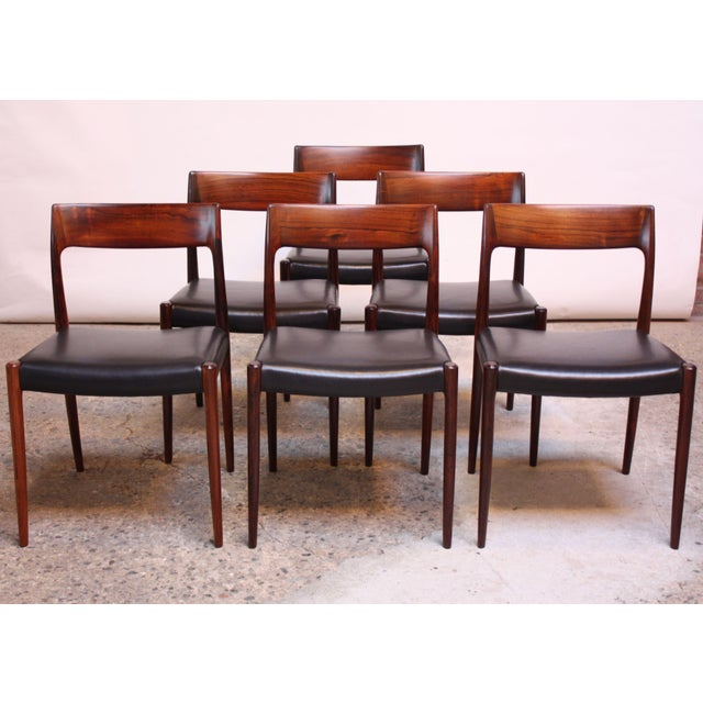Set of Six Rosewood #77 Dining Chairs by Niels O. Møller - Image 3 of 11