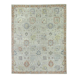 Exquisite Rugs Evie Hand Knotted Wool Gray & Multi - 10'x14' For Sale