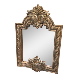 Thai Gold Frame Wall Mirror For Sale