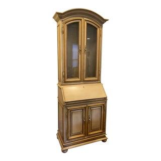 Hollywood Regency Baker Secretary Display Cabinet For Sale