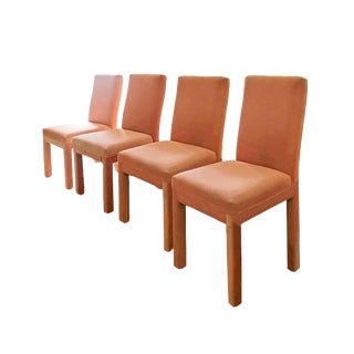 600340790e 1980s Vintage Milo Baughman Parsons Dining Chairs - Set of 4 For Sale