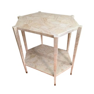 Vintage Hexagonal Alabaster Side Table/Entry Table