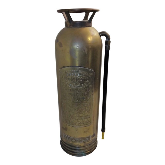 Vintage Brass Industrial Fire Extinguisher - Image 1 of 8