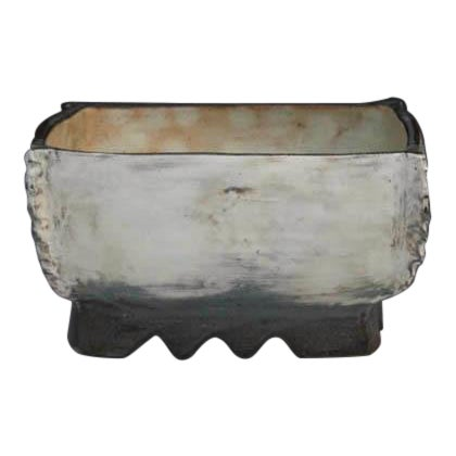Kang Hyo Lee, Pucheong Squared Bowl With Ash Glaze 2, Ca. 2012 For Sale