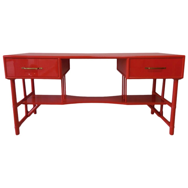 Slender Tommi Parzinger Attributed Desk for Willow and Reed For Sale