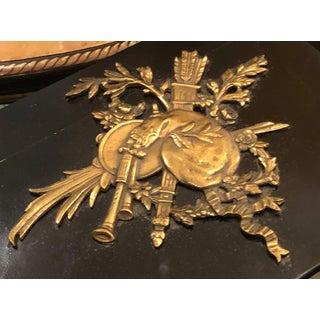 Rare Antique Louis Phillipe Dore Bronze Mounted Black Lacquer Box W/ Bagpipes Preview