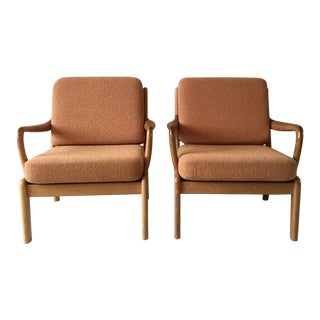 Set of Two Danish Lounge Chairs by L. Olsen and Son Denmark, 1960s