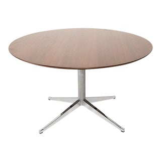 Classic Knoll Walnut Round Table Dining Conference 1961 For Sale