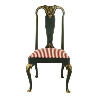 Baker Chinoiserie Decorated Side Chair For Sale