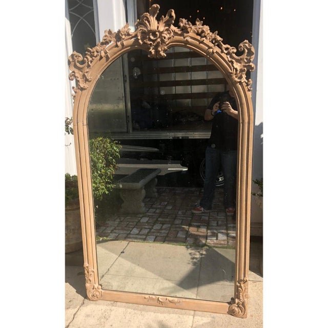 Traditional Antique 19th C Gustavian Swedish Empire Beechwood Mirror For Sale - Image 3 of 6