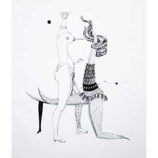 1968 Max Walter Svanberg Composition No. 11, Original Period Black & White Lithograph For Sale