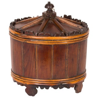 Wood Spice Bucket From Mid-19th Century Sweden For Sale