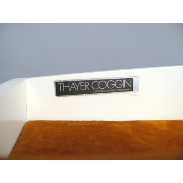 Vintage Milo Baughman for Thayer Coggin Walnut & Lacquered Cabinet For Sale In New York - Image 6 of 10