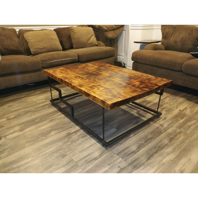 2020s Modern Maple and Oak Wood Coffee Table For Sale - Image 5 of 6