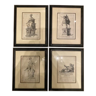 Antique 16th-17th Century Engravings by Giovanni Batista Cavalieri - Set of 4 For Sale