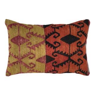 "MidCentury Kilim XL Lumbar Pillow   16"" X 24"" For Sale"