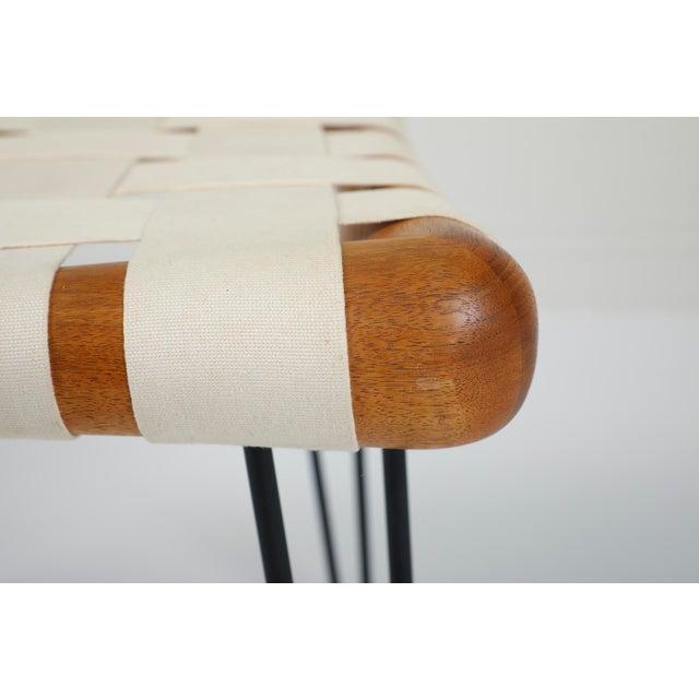 t.h. Robsjohn Gibbings Widdicomb Strap Footstool Bench For Sale - Image 6 of 7