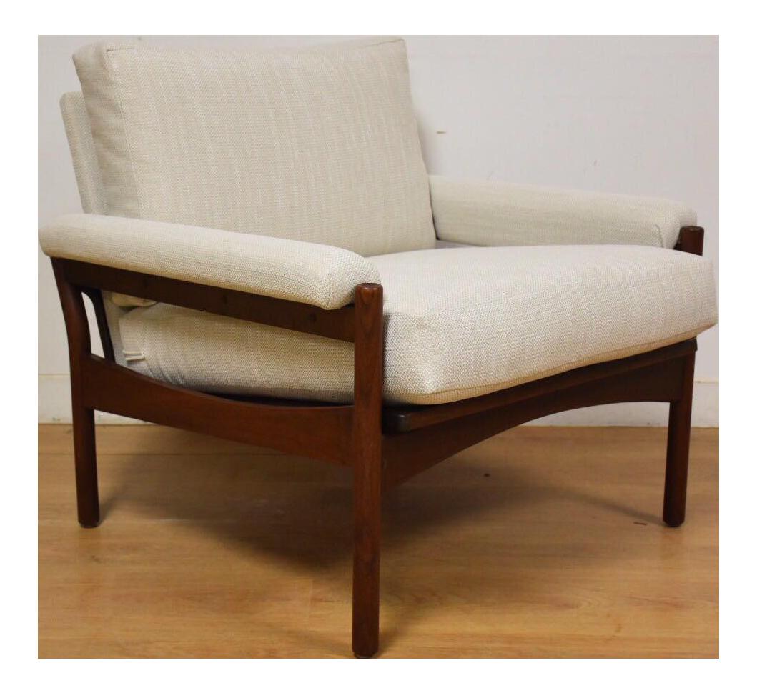 Kofod Larsen For Selig White Lounge Chair   Image 1 Of 10