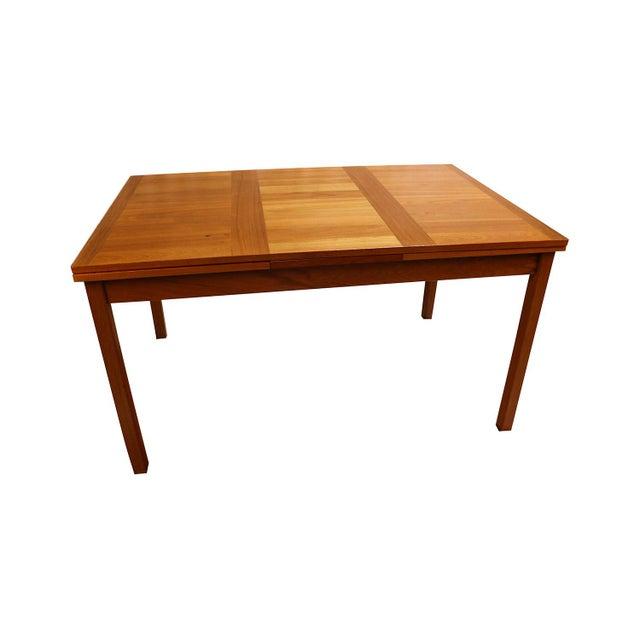 Danish Modern Teak Extendable Dining Table Vejle Stole Møbelfabrik For Sale - Image 11 of 11
