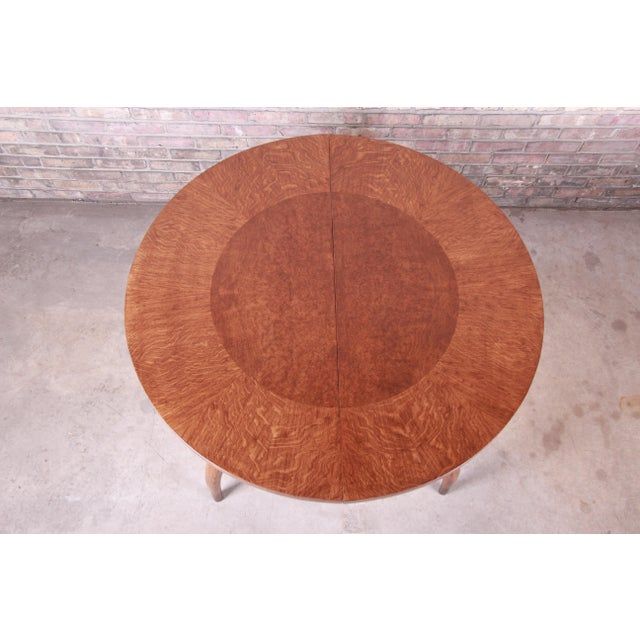 Harold Schwartz for Romweber Mid-Century Modern Spider Leg Extension Dining Table, Newly Restored For Sale - Image 12 of 13