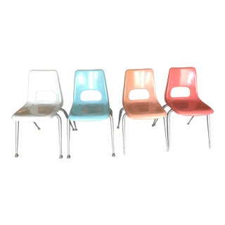 Mid-Century Modern Eames Era Brunswick Fiberglass Chairs For Sale