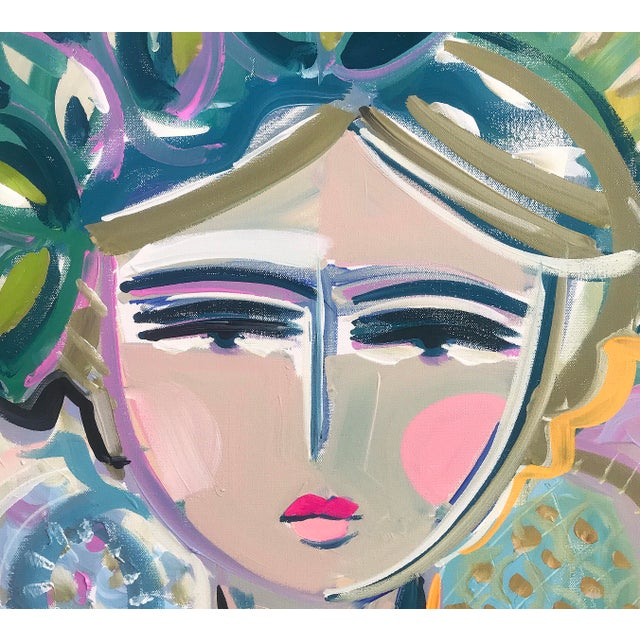 """Warrior Girl """"Leah"""" Original painting in the Warrior Girl Series, by Maren Devine. Loose, abstract and colorful, some..."""
